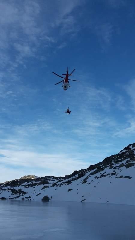 Vrtulník transportoval zraněného do nemocnice