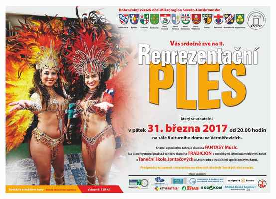 II.Reprezentační ples DSO Mikroregion Severo-Lanškrounsko 31.3.2017