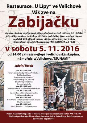 Velichovská zabijačka 5.11.2016