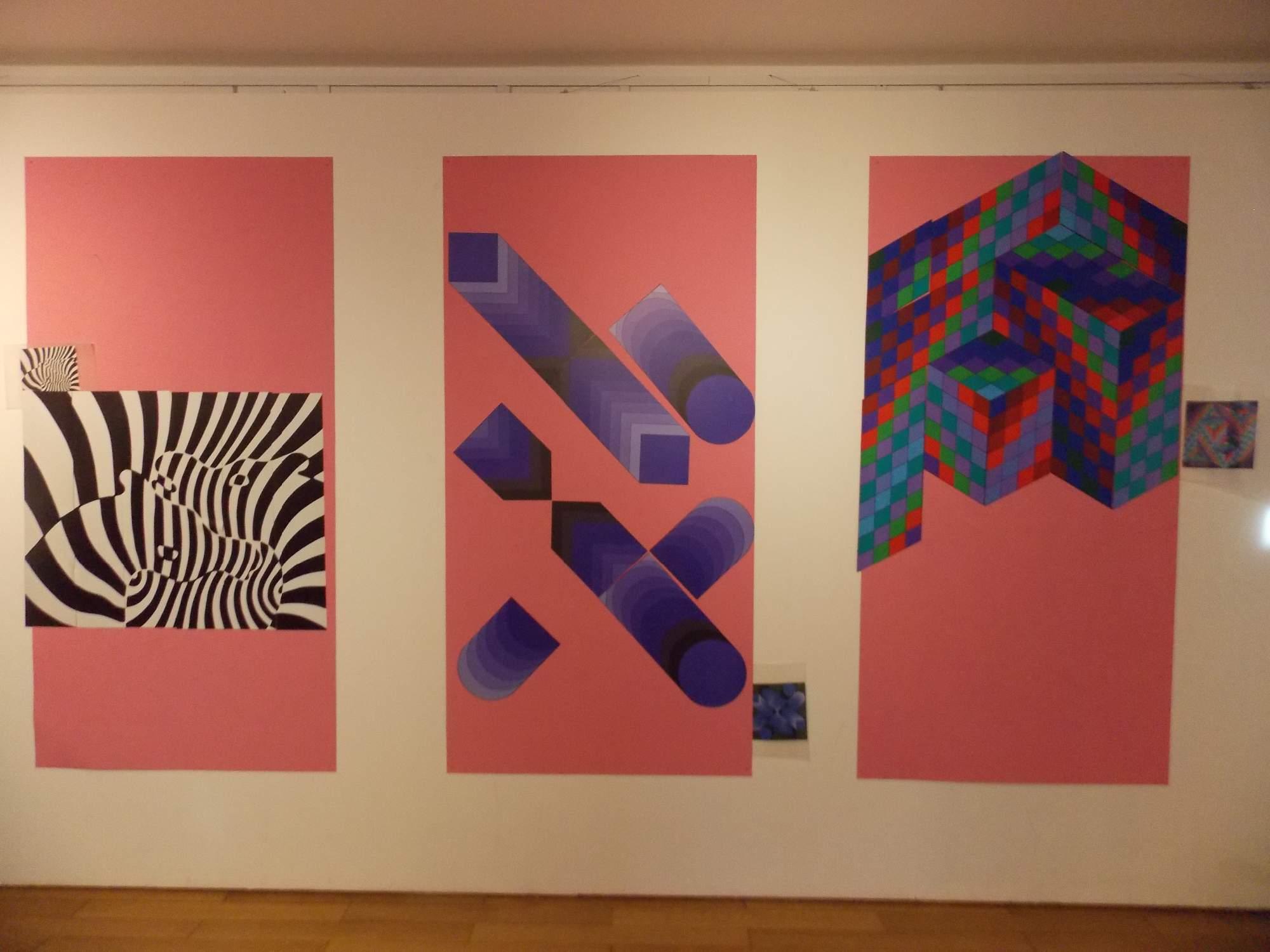 Návštěvníci výstavy si mohli zkusit poskládat vlastní dílo. Foto: Marie Mrázová