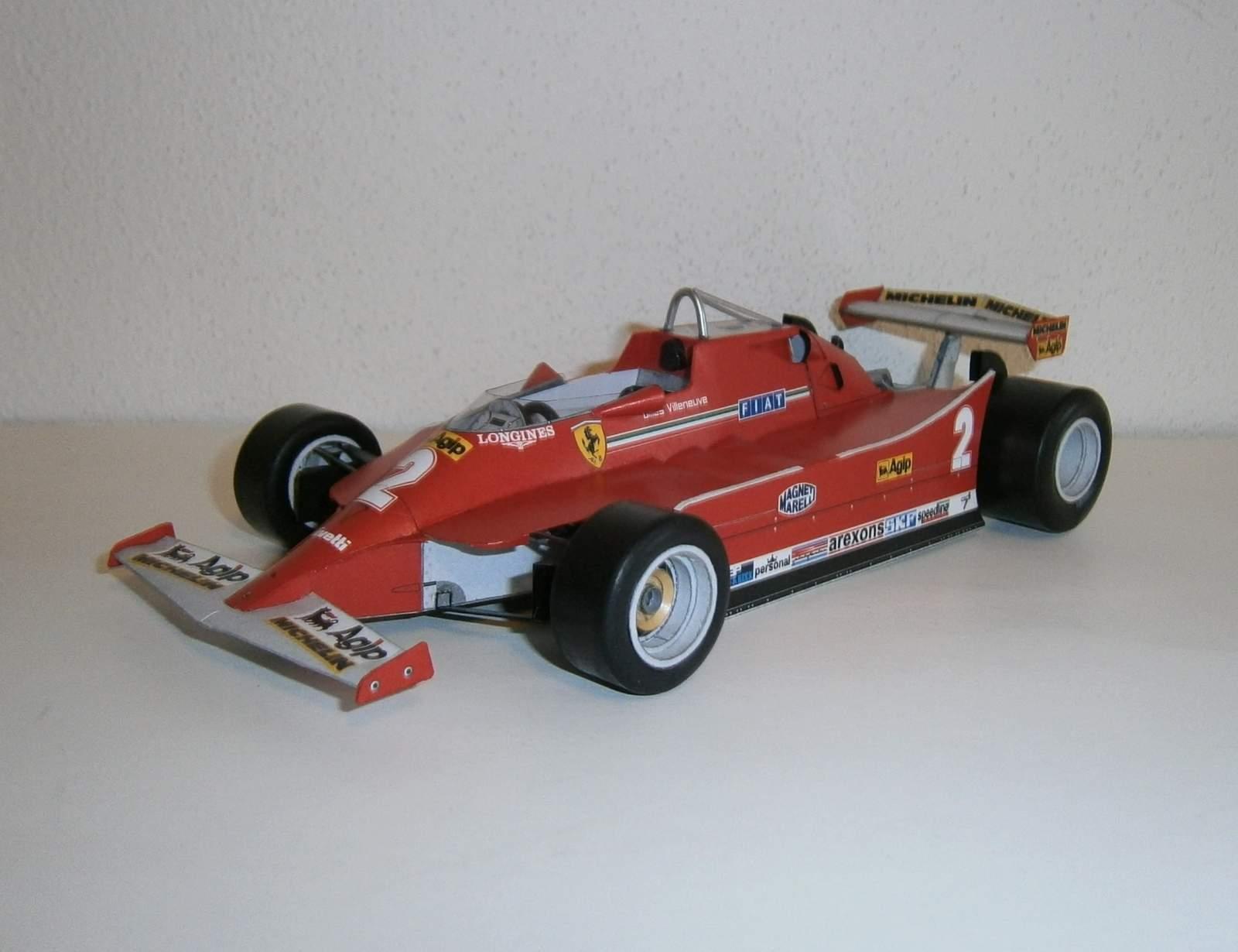 Ferrari 126C - G.Villeneuve,GP Italy-practice 1980