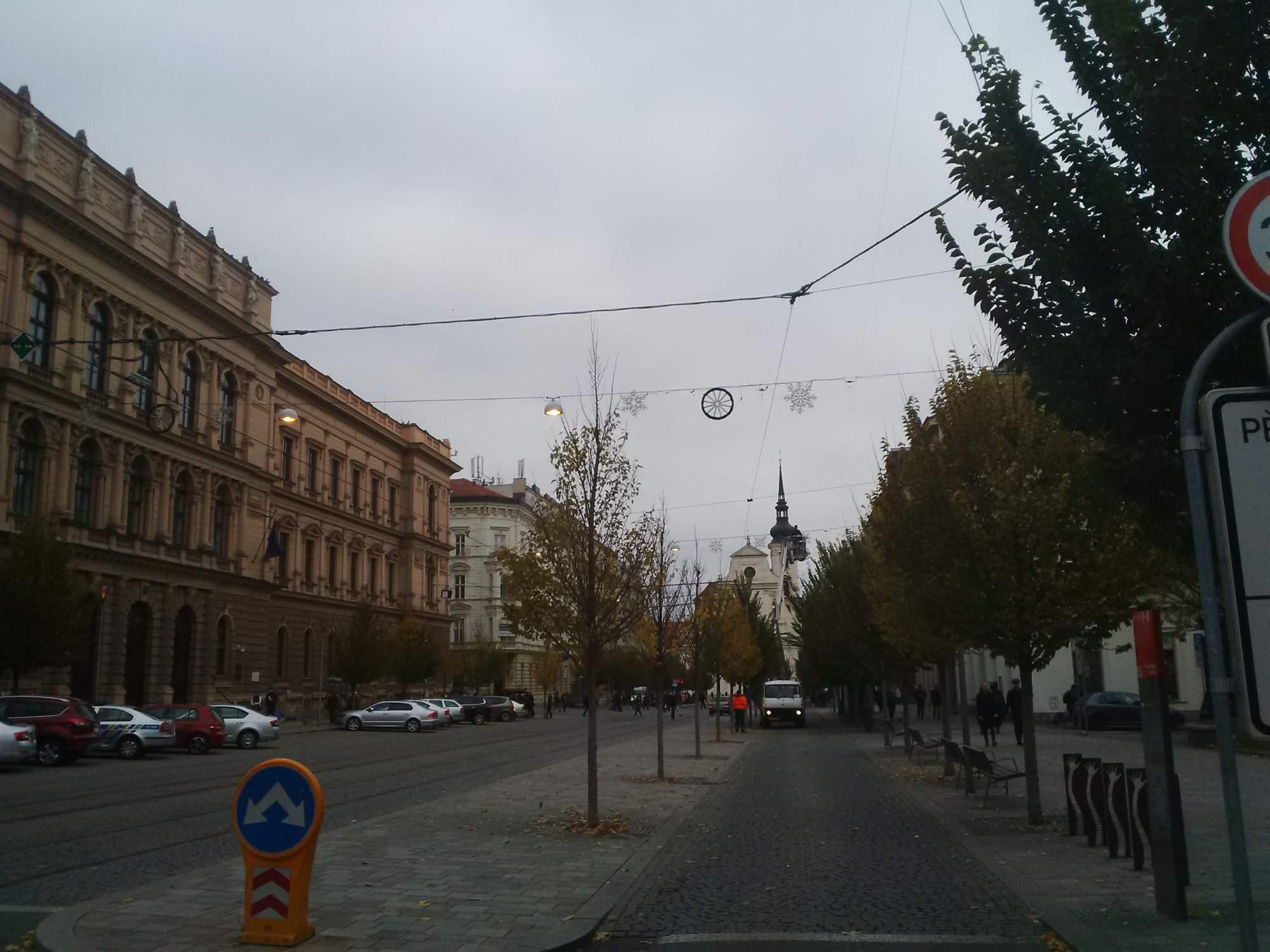 Vánoční výzdoba na Joštově 2016, autor fotky: Lucie Chaloupková