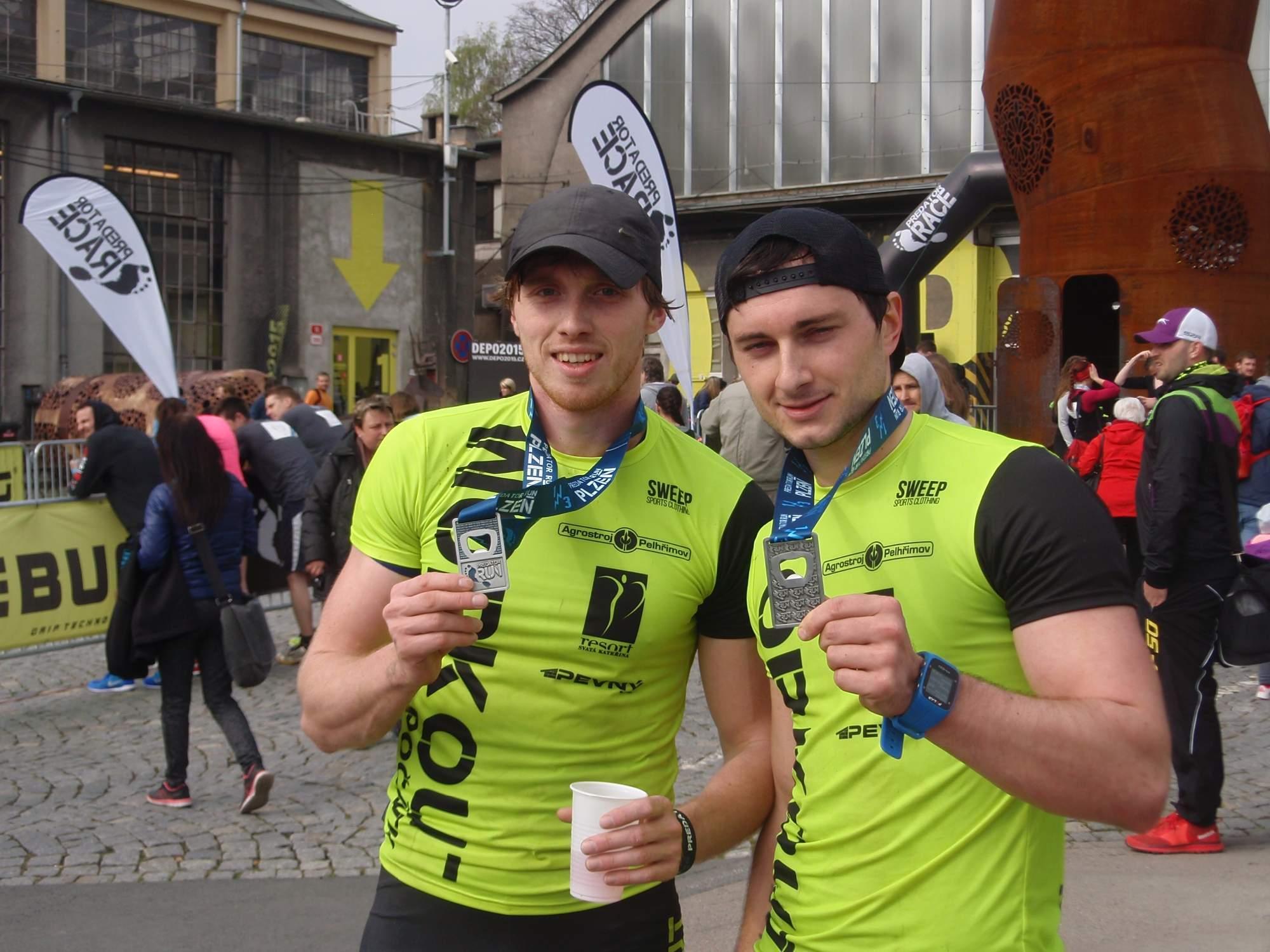 Trenéři z týmu Predátor workout Počátky Lukáš Háva (zleva) a Tadeáš Vítek. Foto: Marie Majdičová