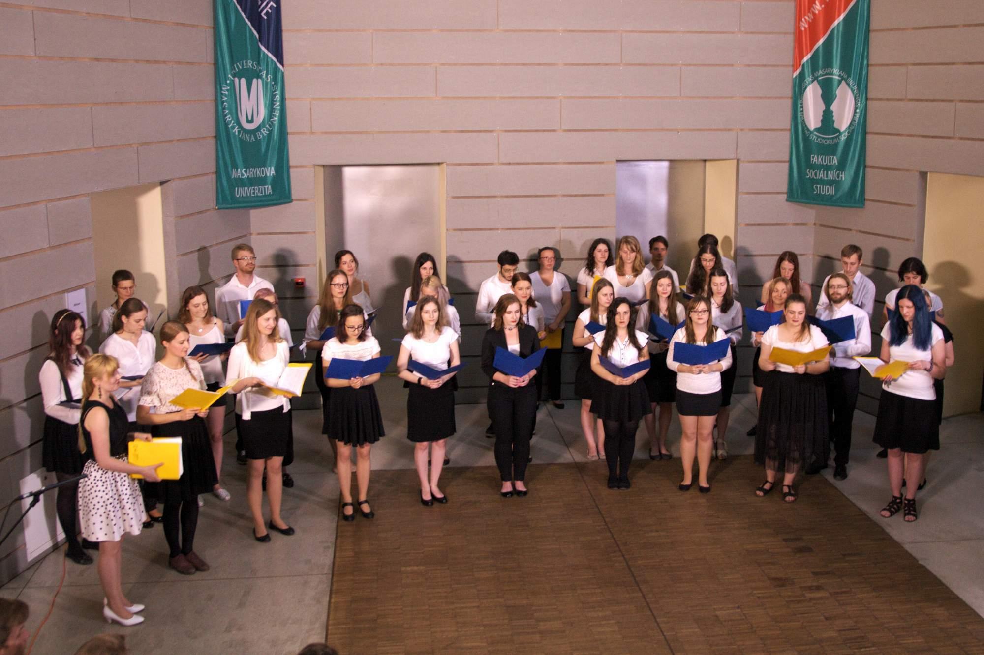 Švédský sbor zpíval v Atriu na FSS. Foto: Martina Hykšová
