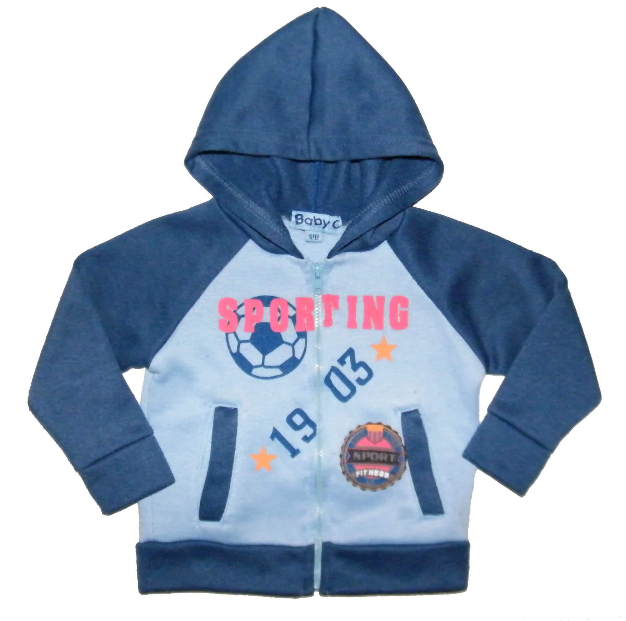 Dětská   chlapecká modrá mikina BABY C - v. 74 - 80   6 - 12 m 947c615349