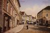 Chrudim - Široká ulice od musea na náměstí, vlevo Resslův rodný dům.