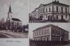 Krouna - Evangelický kostel, obchod a škola.