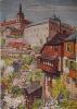 Kutná Hora - Jesuitská kolej nad údolím Vrchlice. Maloval Joserf Krčil.