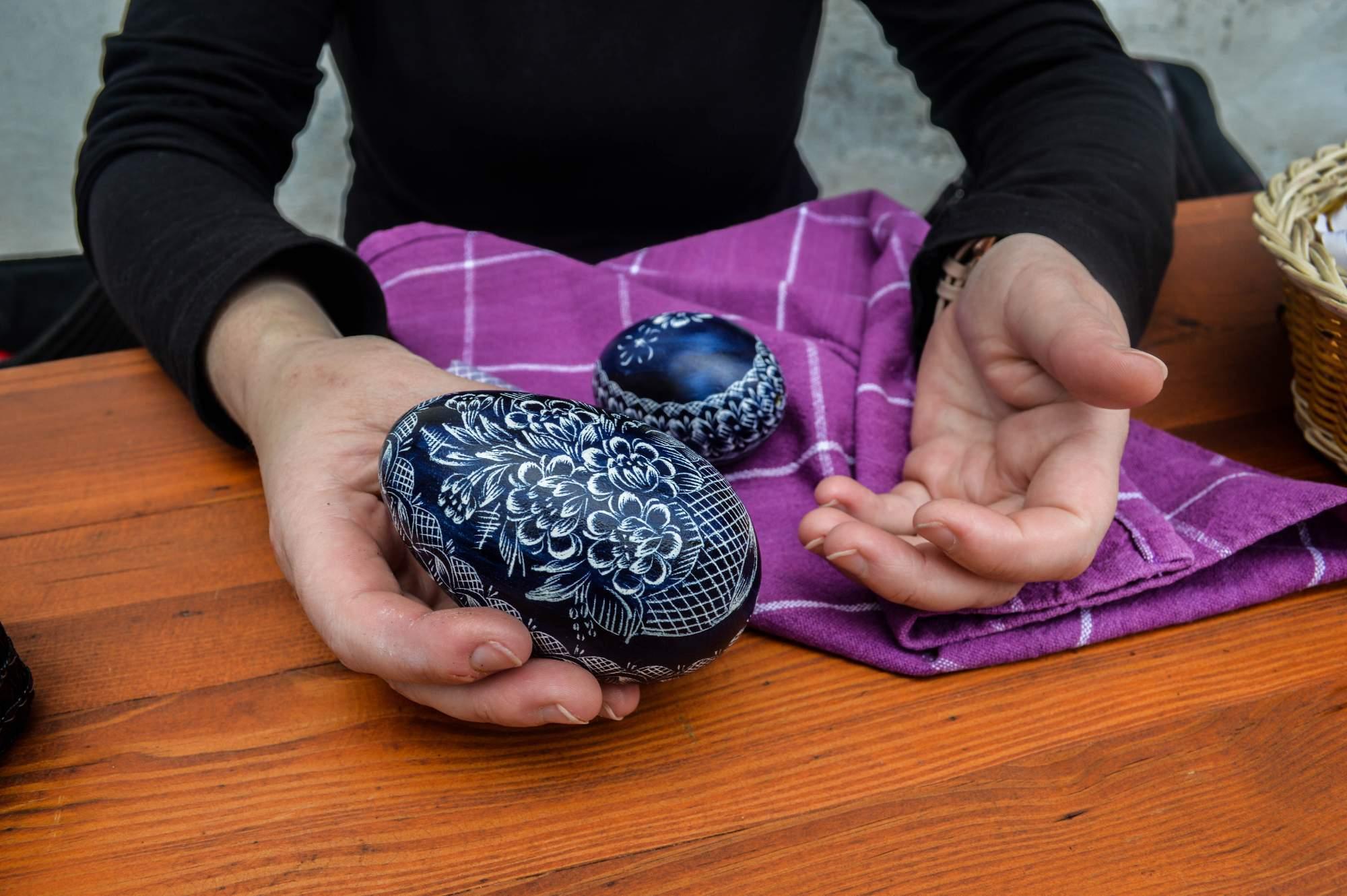 I husí vejce se dá použít jako kraslice. Foto: Eva Bartáková